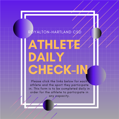 athlete Daily check-in