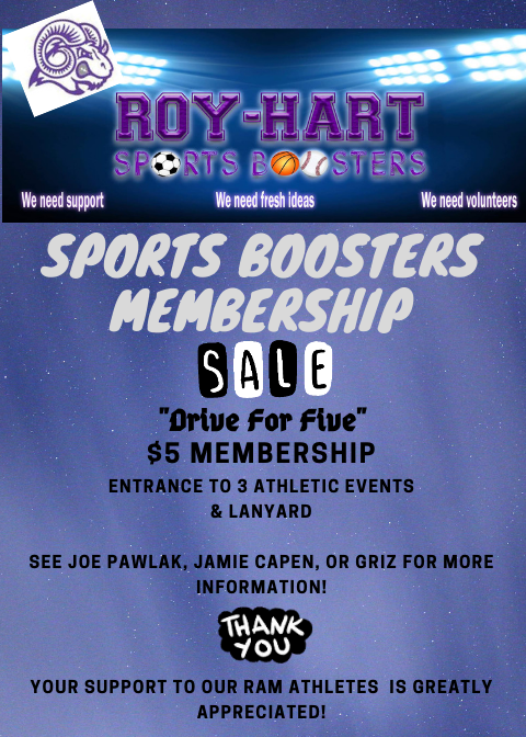 Sports Boosters Membership Cards!!